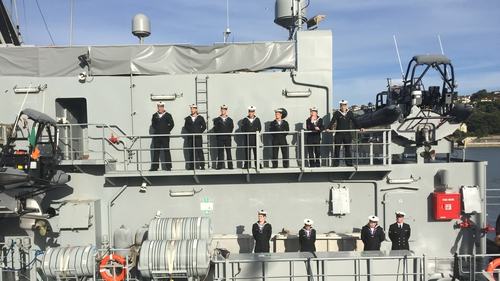 The 58-strong crew served under Lieutenant Commander Neil Manning