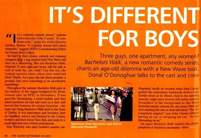 RTÉ Guide Bachelors Walk 28 September 2001