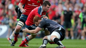 Peter O'Mahony features in a Munster squad for the first time since May 2015