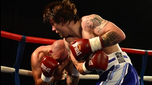 Mike Towell had to be stretchered from the ring after a fifth-round loss