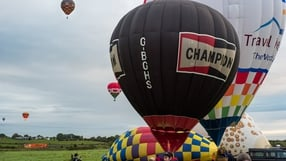 Hot air balloon festival in Kiltullagh, Athenry, Co Galway (Pic: Larry Morgan)