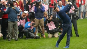 Rory McIlroy helped Europe get back in contention at Hazeltine