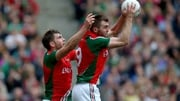 Aidan O'Shea (L) and Seamus O'Shea line out for Mayo