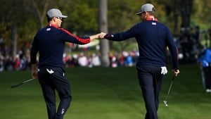 Zach Johnson and Jimmy Walker enjoyed their morning foursome win