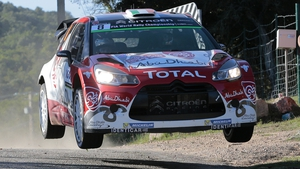Craig Breen in action on the first stage