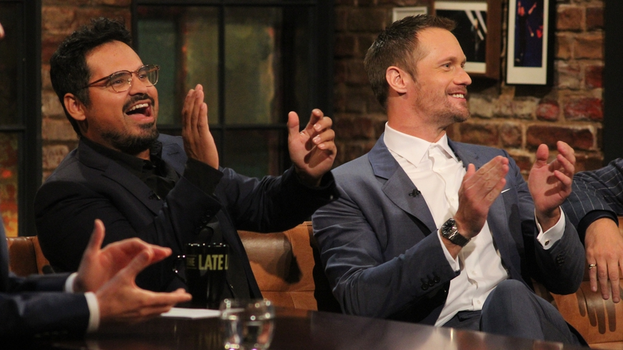 The Late Late Show: Alexander Skarsgard and Michael Pena