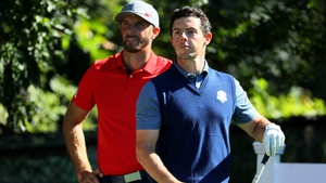 Rory McIlroy looked very comfortable with afternoon partner Thomas Pieters