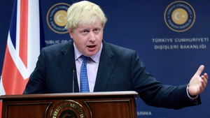 Boris Johnson said Britain and the United States were looking at options to ramp up the pressure on Russia