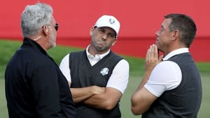 Darren Clarke, Sergio Garcia and Lee Westwood