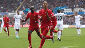 Roberto Firmino equalised for Liverpool