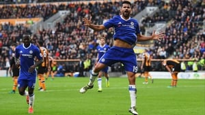 Costa scored his 20th 20th Premier League goal of the season against Middlesbrough