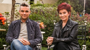 Robbie Williams helps Sharon Osbourne choose her acts