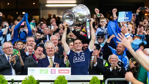 The Sunday Game Extras: Stephen Cluxton accepts the Sam Maguire