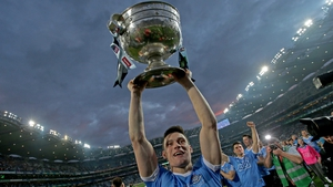 Diarmuid Connolly celebrates Dublin's win
