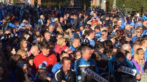 Thousands of Dublin fans turned out for the homecoming in Smithfield