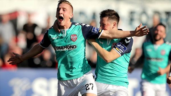 Derry's Ronan Cutis celebrates