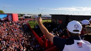 Jordan Spieth of the United States celebrates
