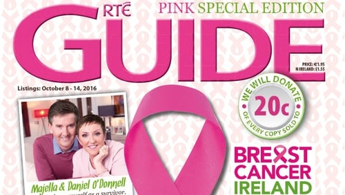 This week the RTÉ Guide has a special edition pink issue in aid of Breast Cancer Awareness Month! The RTÉ Guide will donate 20c from every copy sold so get buying!