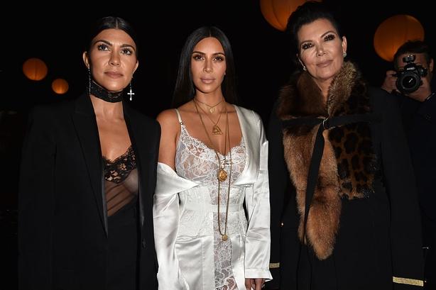 Kourtney Kardashian, Kim Kardashian and Kris Jenner
