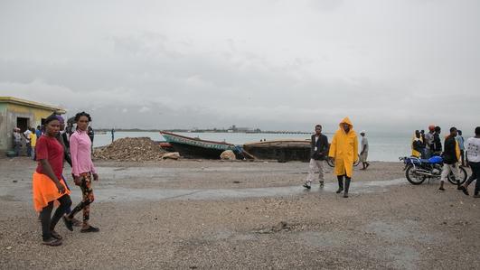 Hurricane Matthew approaching Haiti