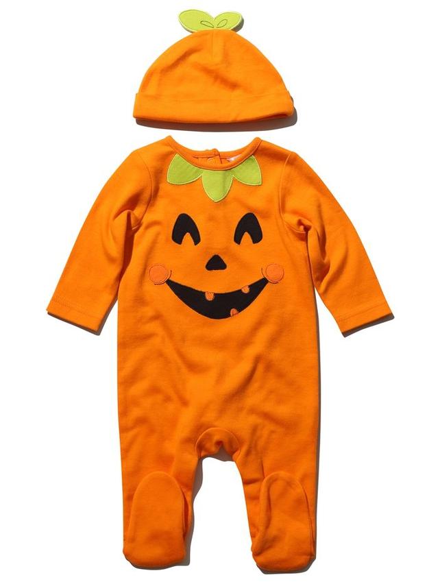 Pumpkin Sleepsuit And Hat Set (newborn -18 months)