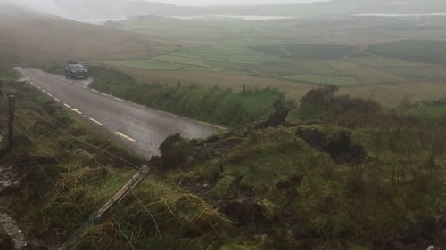 A landslide closed part of the Wild Atlantic Way in south Kerry