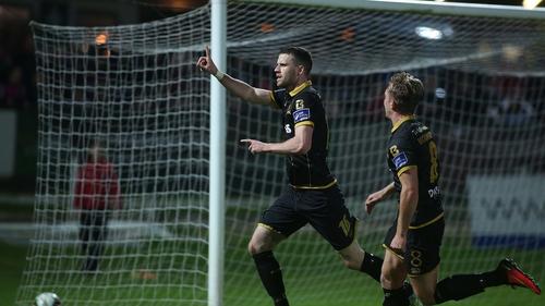 Ciaran Kilduff celebrates his first-half goal