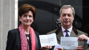 Diane James pictured with Nigel Farage