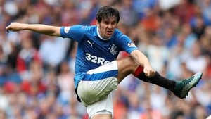 Barton on one of his few appearances in Scotland with Rangers