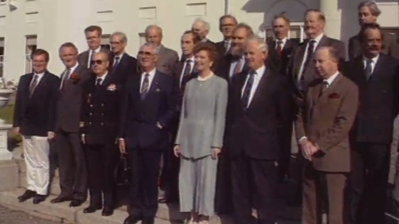 16 Chieftains of Ireland with President Robinson 1991