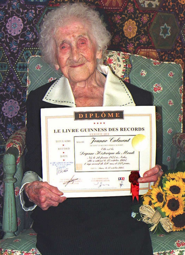 Jeanne Calment lived to the age of 122