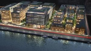 Ballymore's Dublin Landings scheme is a 93,000 sq metres mixed used scheme