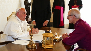 Pope Francis meets Archbishop of Canterbury Justin Welby at the Vatican