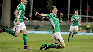 Seamus Coleman opened his account for Ireland against Georgia