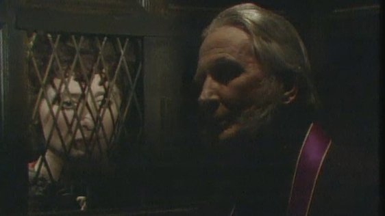 Agnes Mulqueen in the confessional in a scene from The Ante Room.