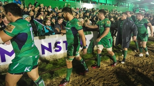 Connacht players thanks the crowd after their win against Ulster