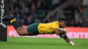 Samu Kerevi goes over for his first try