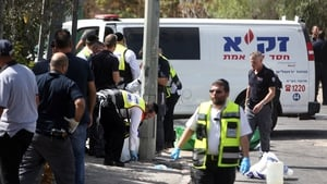 The incident happened near Israeli national police headquarters