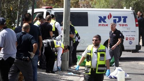 The incident happened near Israeli national police headquarters