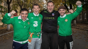 The Green Army descended on Chisinau in good spirits and fine voice.
