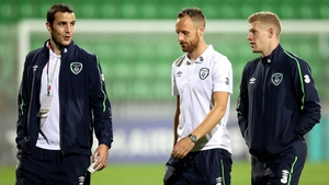 John O'Shea, David Meyler and James McClean survey their surroundings.