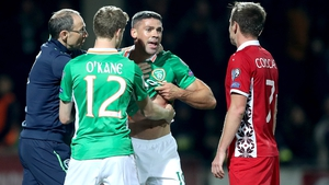 There was a late bust-up as Jon Walters was the victim of some rough stuff from a frustrated Moldova