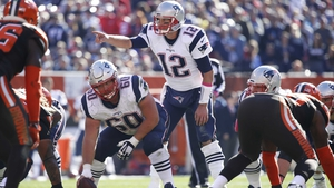 Tom Brady (#12) threw for three touchdowns