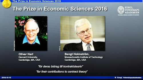 Oliver Hart and Bengt Holmstrom won the 2016 Nobel Economics Prize for their contributions to contract theory