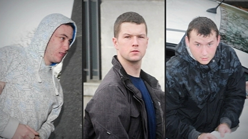 Sean Davy (L), Matthew Cummins and James Davy (R) sentence to life for murder (Pic: James Flynn/APX)