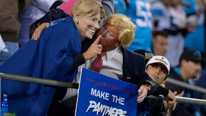 The US Presidential candidates turned up to see the Panthers clash with The Bucs