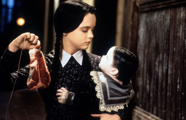 A young Christina Ricci as the Addams Family member Wednesday
