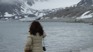 Artist Siobhan McDonald at the Arctic Circle