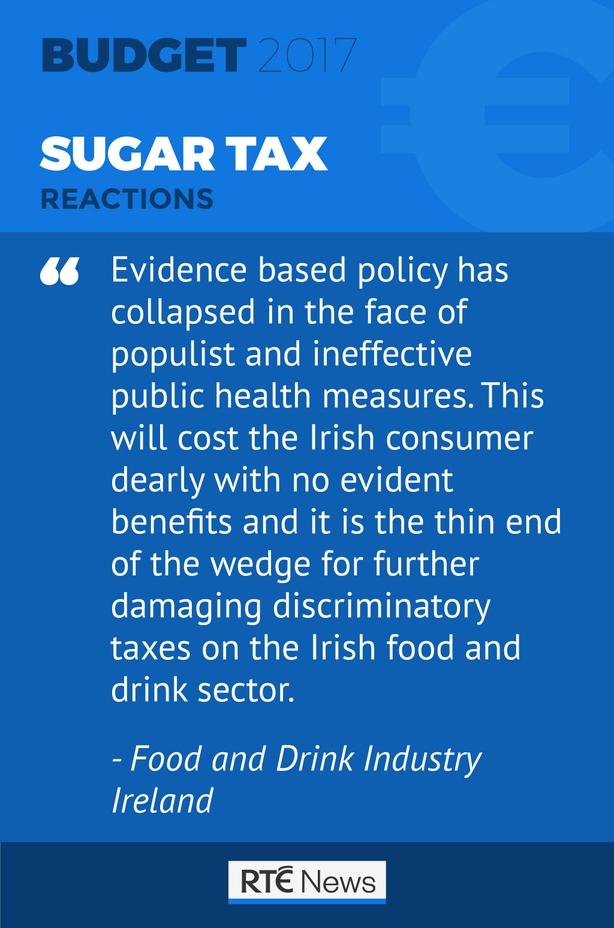 Sugar tax reaction