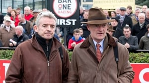 Michael O'Leary and Willie Mullins together before they parted ways